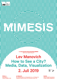 Lev Manovich´s lecture (July 2, 2019)